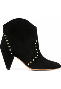 Tila March Ankle Boot Com Tachas - Preto