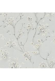 Papel De Parede Floral- Cinza & Off White- 1000X52Cmshark Metais