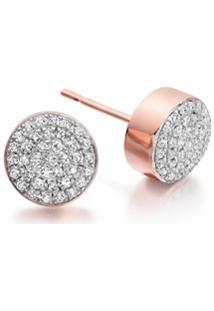 Monica Vinader Par De Brincos Com Diamante 'Fiji Button' - Dourado