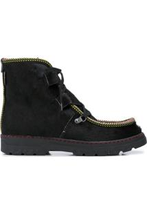 Penelope Chilvers Ankle Boot Incredible Com Acabamento De Corda - Preto