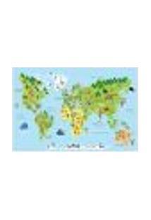 Painel Adesivo De Parede - Mapa Mundi - Mundo - Infantil - 1810Pnm