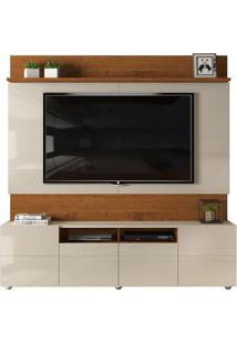 Home Quadrus Para Tv De Até 65' - Rústico Terrara Com Offwhite