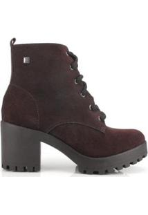 Bota Coturno Ramarim Ankle Boot Couro - Feminino