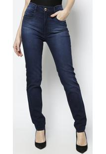 Jeans Second Skinny High - Azul Escuro -Lança Perfumlança Perfume