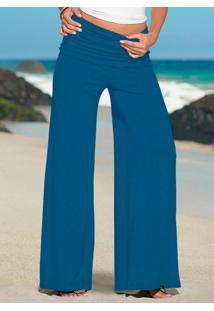 Calça Pantalona Azul Royal