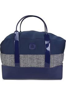 Bolsa Petite Jolie Shopper Weekend Feminina - Feminino-Azul