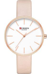 Relógio Curren Analógico C9042L Rosa - Tricae