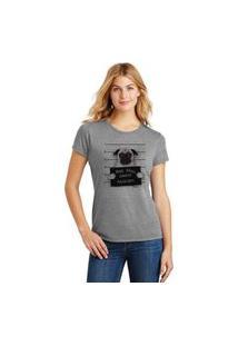 Camiseta Feminina T-Shirt Pets Bad Dog Pug