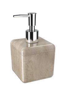 Porta Sabonete Líquido Cube 330Ml Coza 8,5 X 8,5 X 15 Cm 330 Ml Mármore Areia Coza