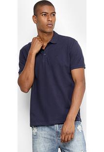 Camisa Polo Ellus Piquet Poá Masculina - Masculino
