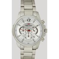 6d445b62902 Relógio Cronógrafo Philiph London Masculino - Pl80032623M Prateado - Único