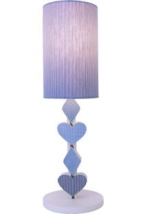 Abajur Mã³Bile Cãºpula Listrada Crie Casa Azul - Azul - Dafiti
