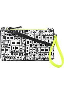 Bolsa Couro Colcci Mini Bag Logomania - Feminino-Amarelo