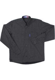 Camisa Rodeo Western Masculina - Masculino-Preto