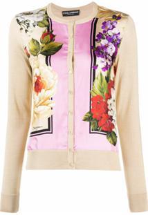 Dolce & Gabbana Cardigan Com Estampa Floral - Neutro