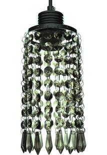 Lustre Pendente Diamante 1060/1 Grafite Redondo 40W Bivolt