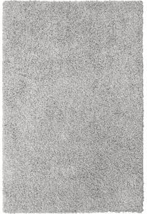 Tapete Clemant Retangular Shaggy (200X300 Cm) Prata