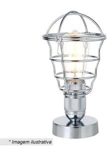 Luminária De Mesa Ara- Prateada- 27Xø14Cm- Bivolrivatti