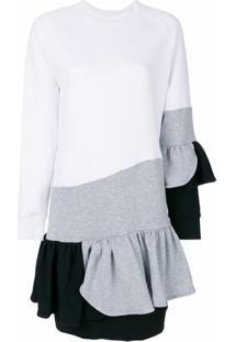 Ioana Ciolacu Vestido Color Block - Branco