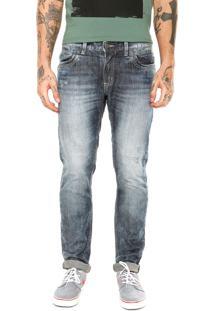 Calça Jeans Sawary Estonada Puídos Azul