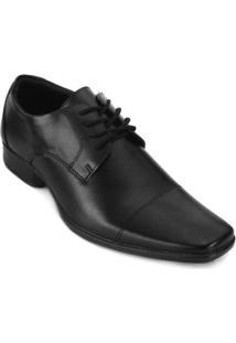 Sapato Social Faraton Bico Quadrado Fr18-9017 Masculino - Masculino-Preto