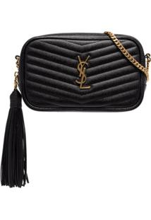 Saint Laurent Bolsa Transversal Ysl Mini - Preto