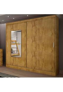 Guarda-Roupa Casal Ônis 2 Portas C/ Espelho – Novo Horizonte - Freijo Dourado