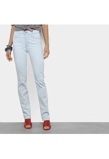 1b41f23a3 ... Calça Jeans Slim Forum Marisa Cintura Média Feminina - Feminino-Azul  Claro