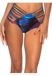 Calcinha Hot Pants Strappy Lua Morena Jellyfish