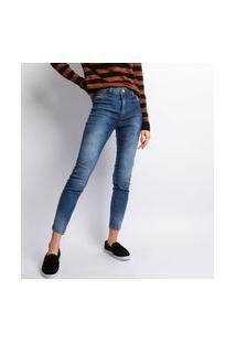 Calça Lavagem Escura Jeans Skinny Feminino Jeans