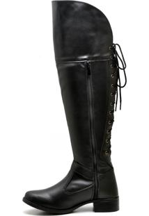 Bota Over The Knee Juilli Bota Joelho 11661L Preto