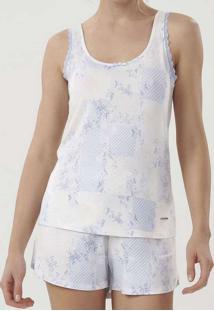 Pijama Feminino Cor Com Amor 12387 11448-Azul-Clar