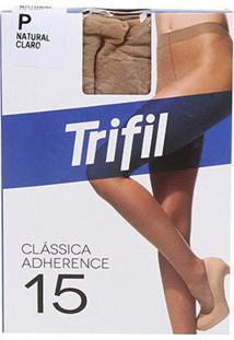 Meia Calça Trifil Adherence Fio 15 Feminina - Feminino-Marrom Claro