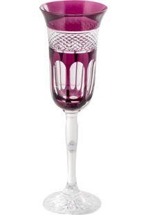 Taça De Cristal Para Champanhe 150Ml Purple Lodz