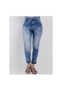 Calça Jeans Capri Feminina Azul
