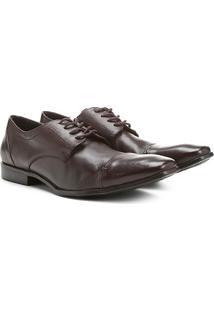 Sapato Social Couro Shoestock Amarração - Masculino-Café