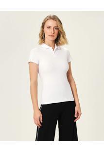 Camisa Polo Em Piquê Malwee Branco - G