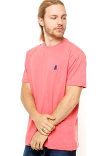 Camiseta Manga Curta Polo Club Básica Coral