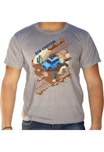 Camiseta Masculina Eco Canyon Car In The Mud Cinza