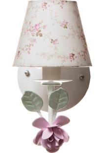Arandela 1 Lâmpada Flor Potinho De Mel Rosa - Kanui