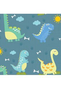 Papel De Parede Adesivo Dinossauro Baby Grande 57X270Cm - Tricae