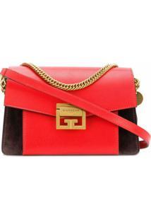 Givenchy Bolsa Transversal Gv3 De Couro - Vermelho