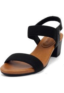 Sandália Usaflex As4801 Couro Preto