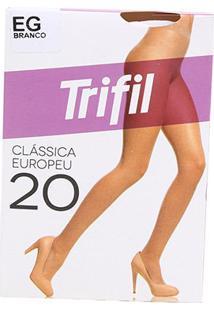 Meia Calça Trifil Fio 20 Europeu Feminina - Feminino-Branco