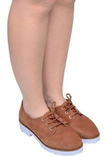 Sapato Feminino Oxford Saint Tr Bebecê Marrom