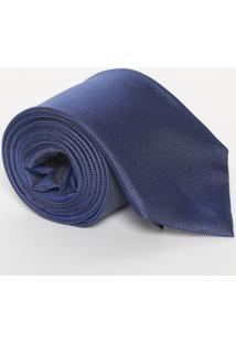 Gravata Texturizada Em Seda - Azul - 8X148Cmcalvin Klein