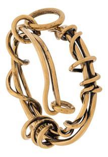 Alexander Mcqueen Pulseira Wire - Dourado