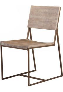 Cadeira York Assento Mad Driftwood Base Aco Cobre - 38306 - Sun House