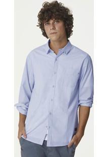 Camisa Masculina Em Tecido De Algodão E Modelagem Regular