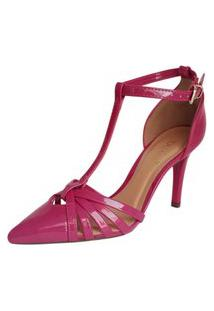 Scarpin Rosa Pink Salto Confortavel